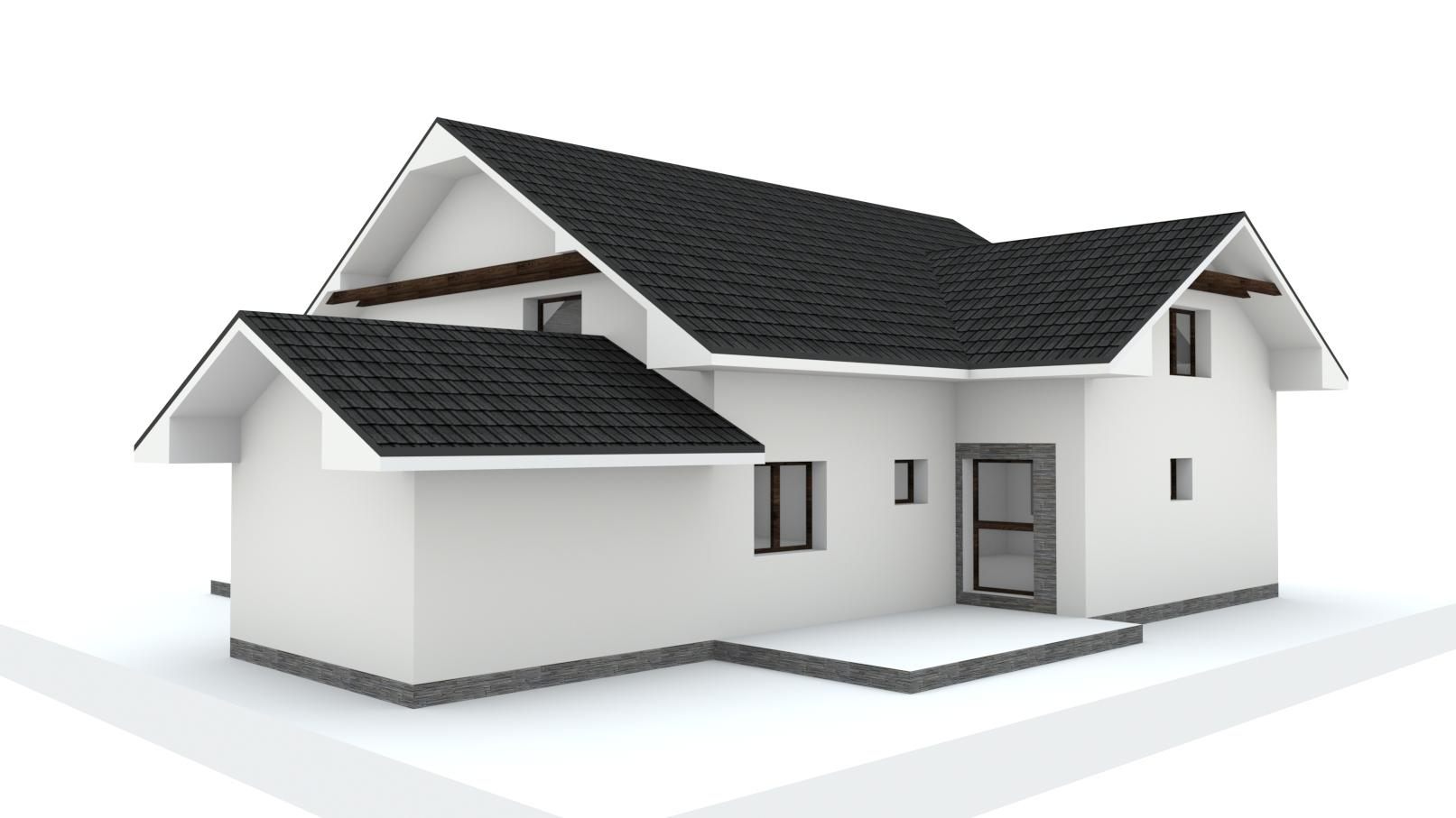 Návrh fasády, oprotenia, chodníkov a záhrady rodinného domu - Obrázok č. 14