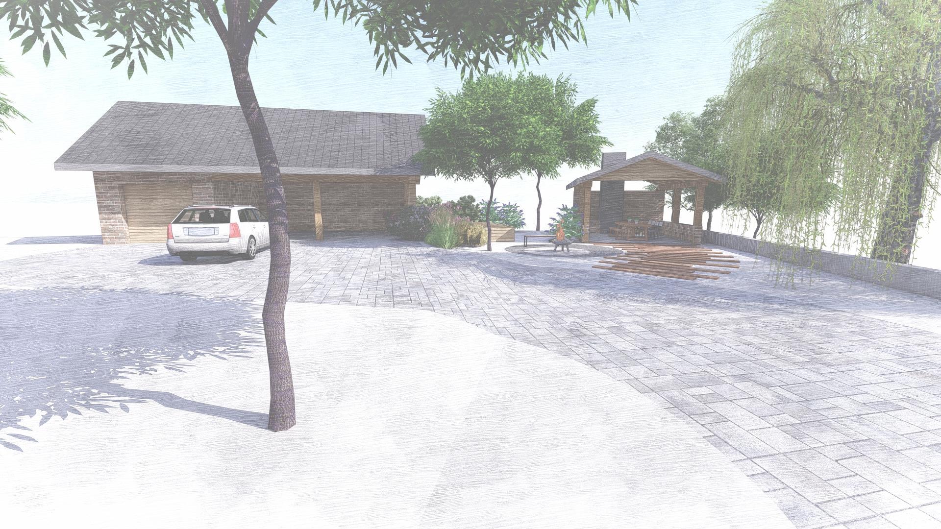 Návrh fasády, oprotenia, chodníkov a záhrady rodinného domu - Obrázok č. 35
