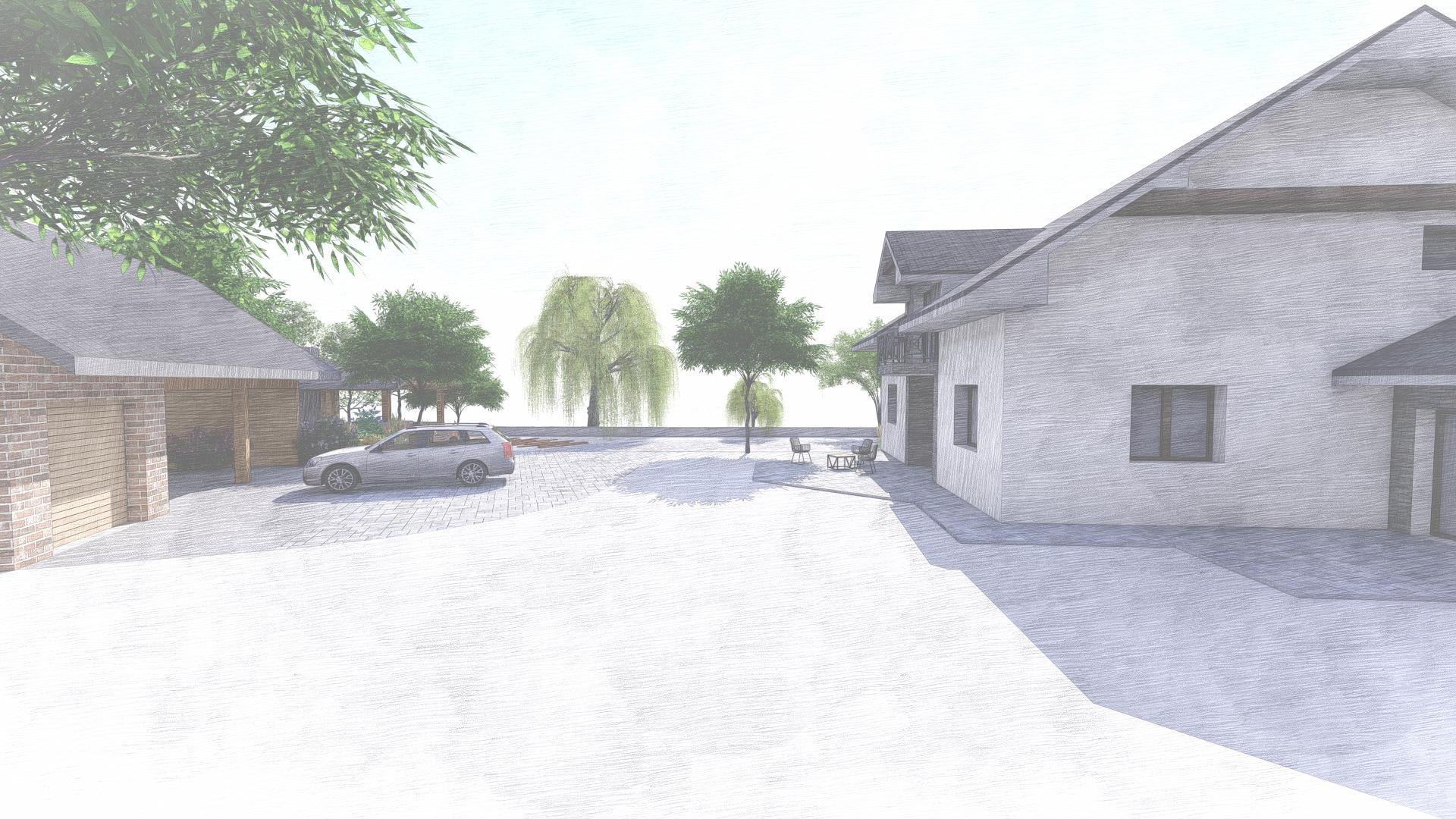 Návrh fasády, oprotenia, chodníkov a záhrady rodinného domu - Obrázok č. 36