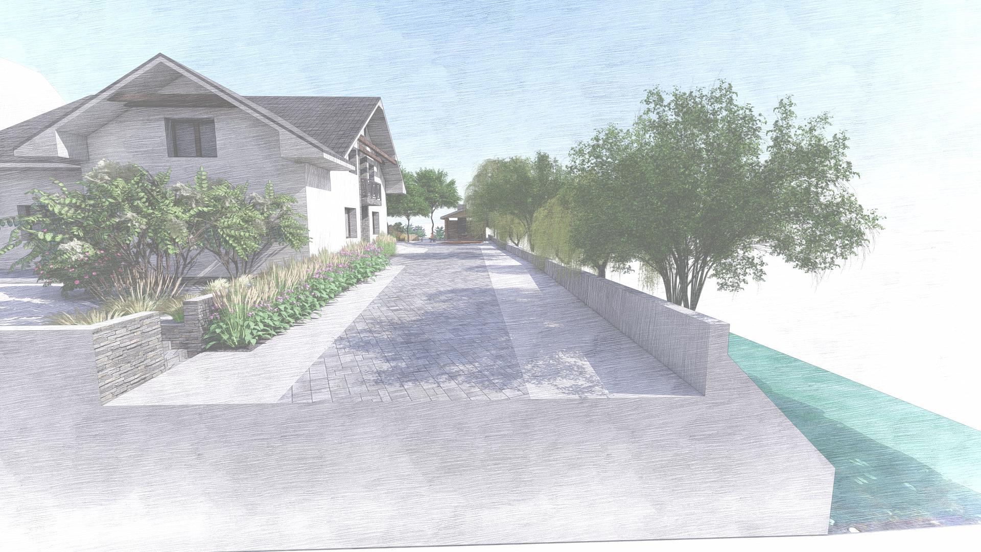 Návrh fasády, oprotenia, chodníkov a záhrady rodinného domu - Obrázok č. 32