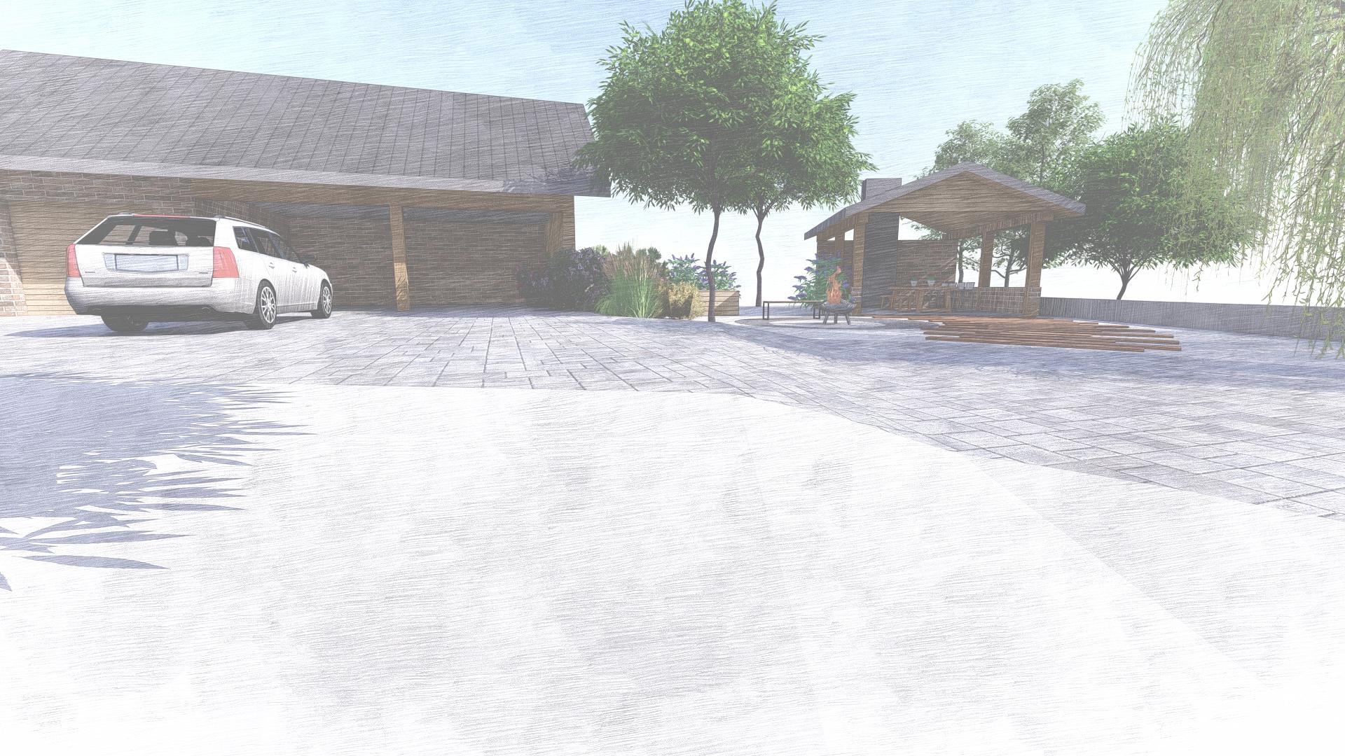 Návrh fasády, oprotenia, chodníkov a záhrady rodinného domu - Obrázok č. 37
