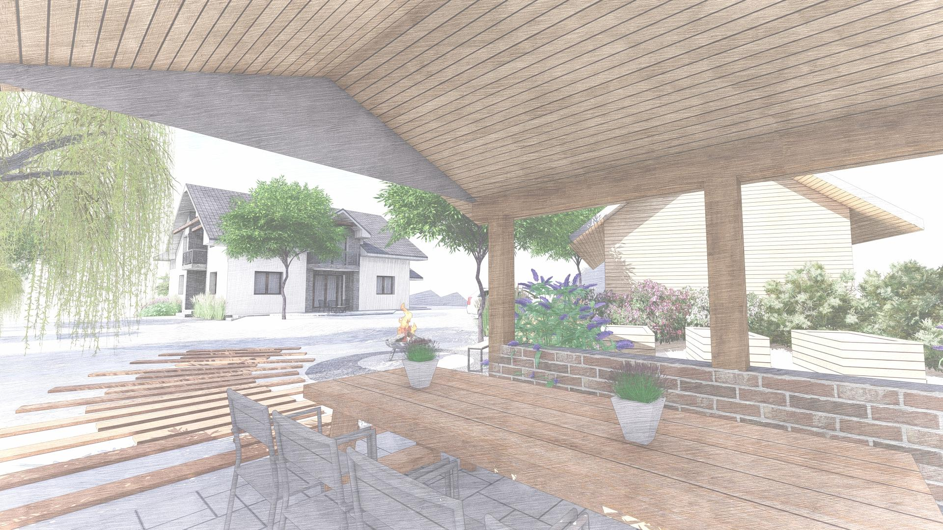 Návrh fasády, oprotenia, chodníkov a záhrady rodinného domu - Obrázok č. 30