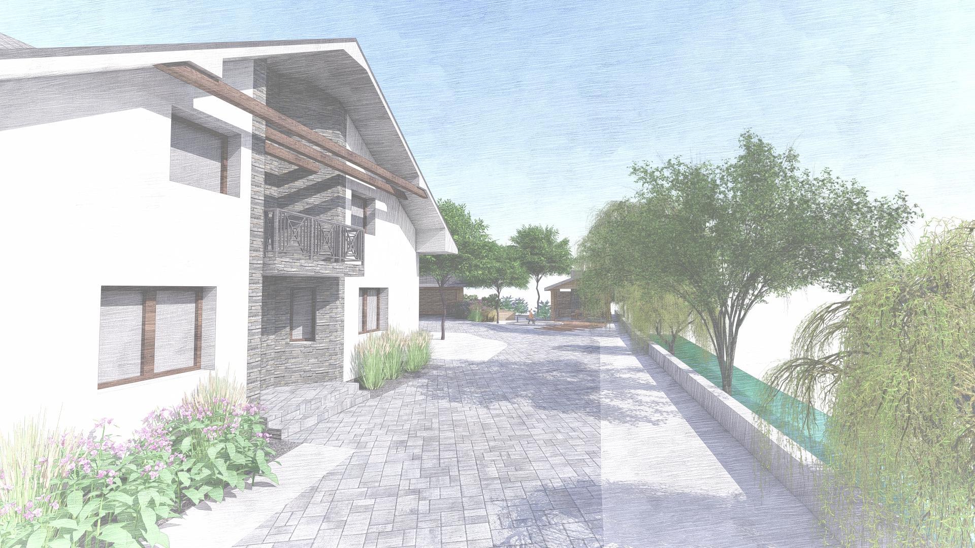 Návrh fasády, oprotenia, chodníkov a záhrady rodinného domu - Obrázok č. 33