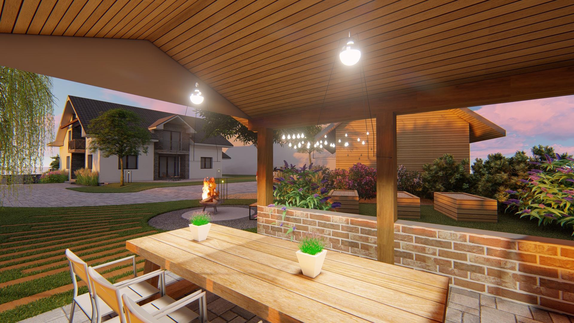 Návrh fasády, oprotenia, chodníkov a záhrady rodinného domu - Obrázok č. 9