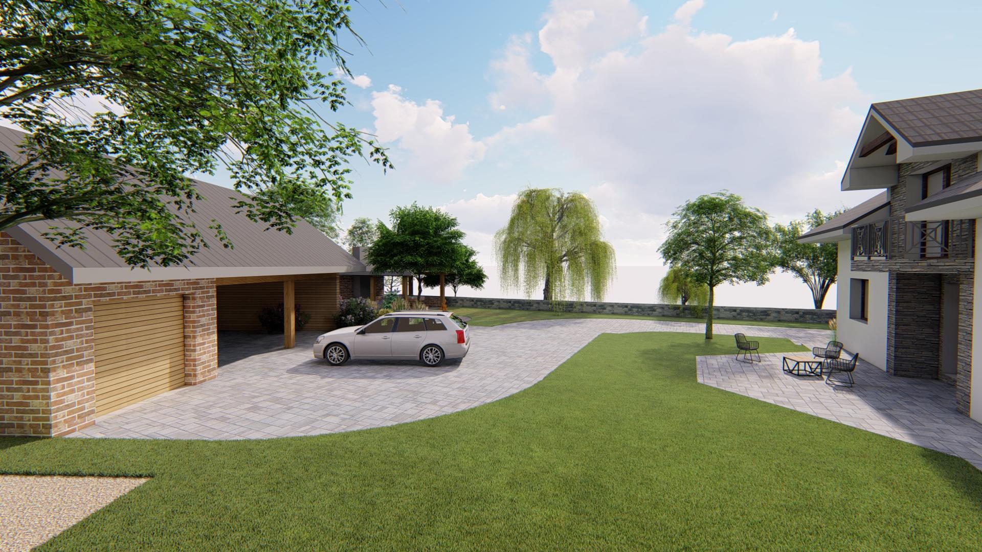 Návrh fasády, oprotenia, chodníkov a záhrady rodinného domu - Obrázok č. 6