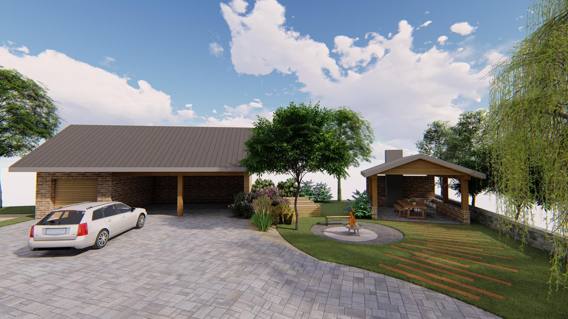 Návrh fasády, oprotenia, chodníkov a záhrady rodinného domu - Obrázok č. 4