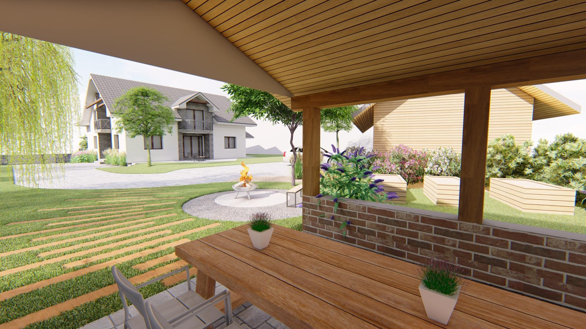 Návrh fasády, oprotenia, chodníkov a záhrady rodinného domu - Obrázok č. 2