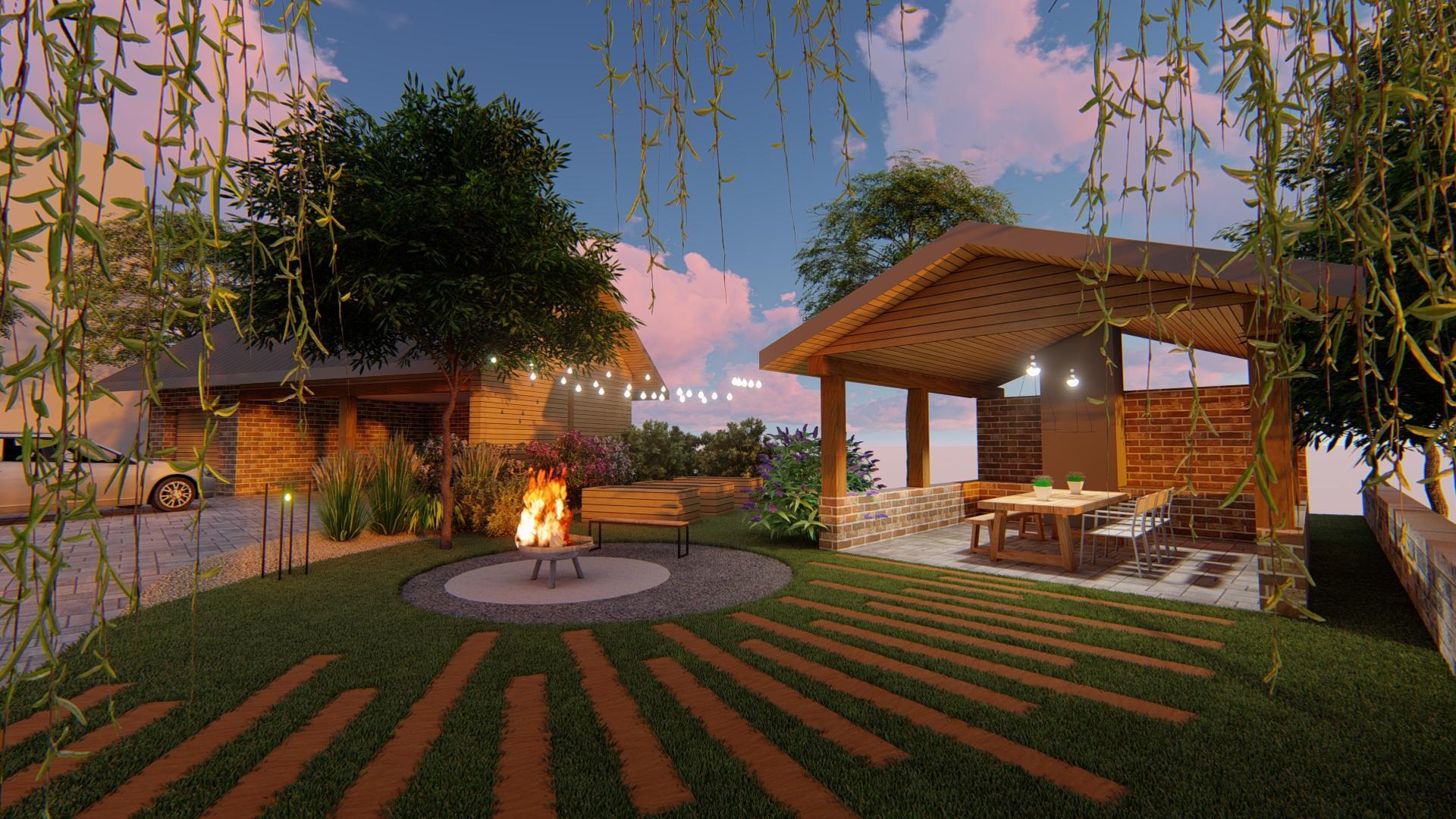 Návrh fasády, oprotenia, chodníkov a záhrady rodinného domu - Obrázok č. 1