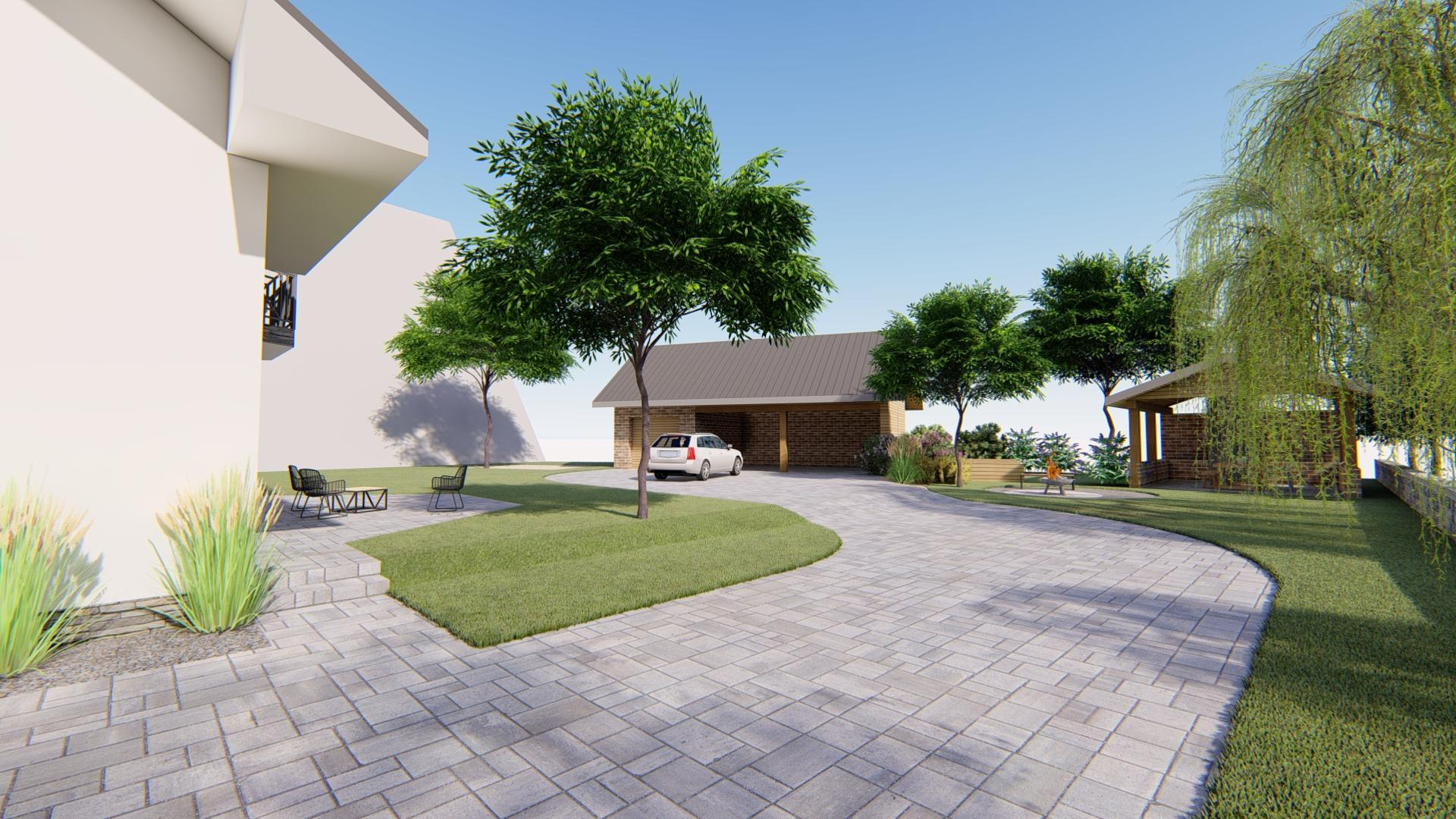 Návrh fasády, oprotenia, chodníkov a záhrady rodinného domu - Obrázok č. 3