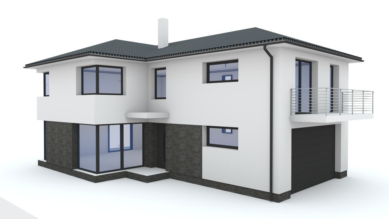 Návrh fasády rodinného domu - Obrázok č. 2