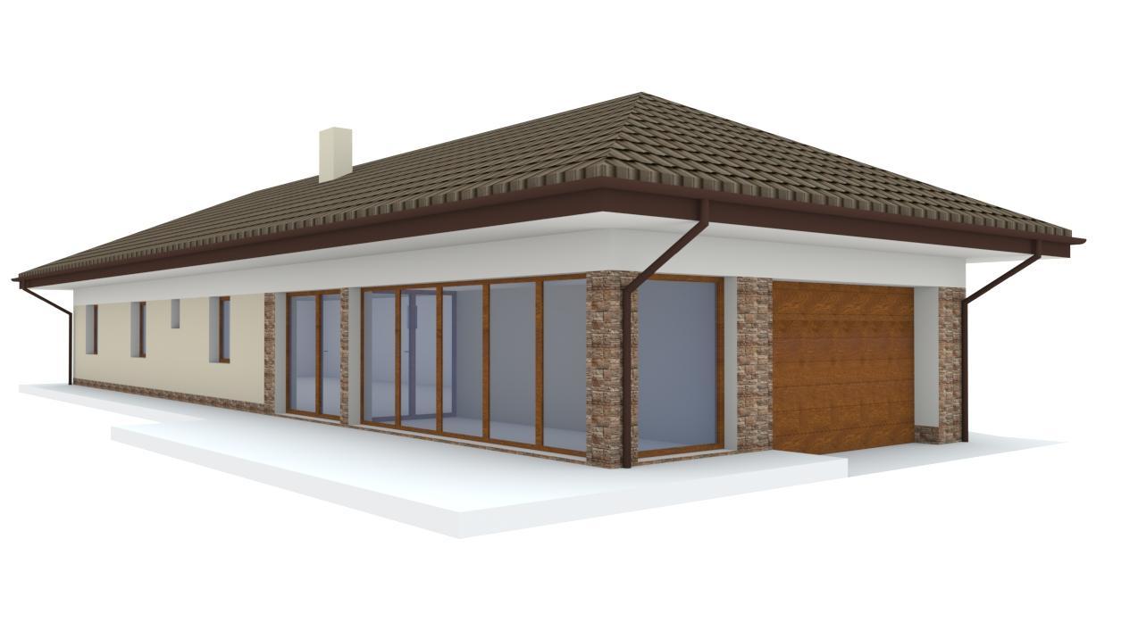 Návrh fasády rodinného domu a štúdia záhrady, siete chodníkov a chatky - Obrázok č. 1