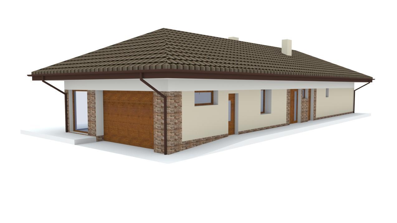 Návrh fasády rodinného domu a štúdia záhrady, siete chodníkov a chatky - Obrázok č. 2