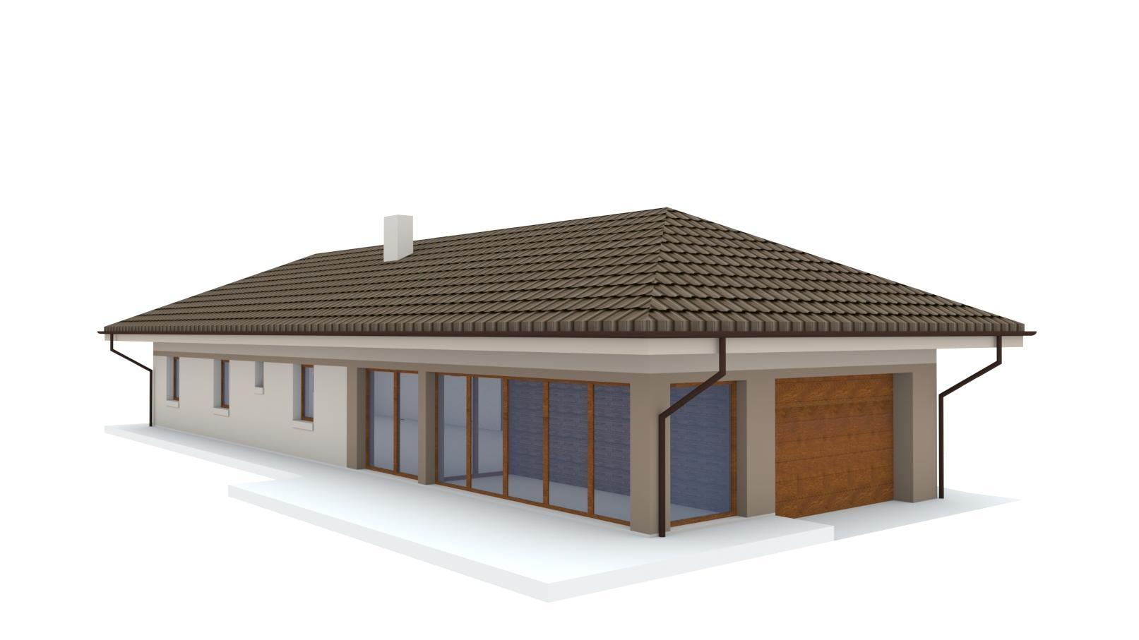 Návrh fasády rodinného domu a štúdia záhrady, siete chodníkov a chatky - Obrázok č. 3