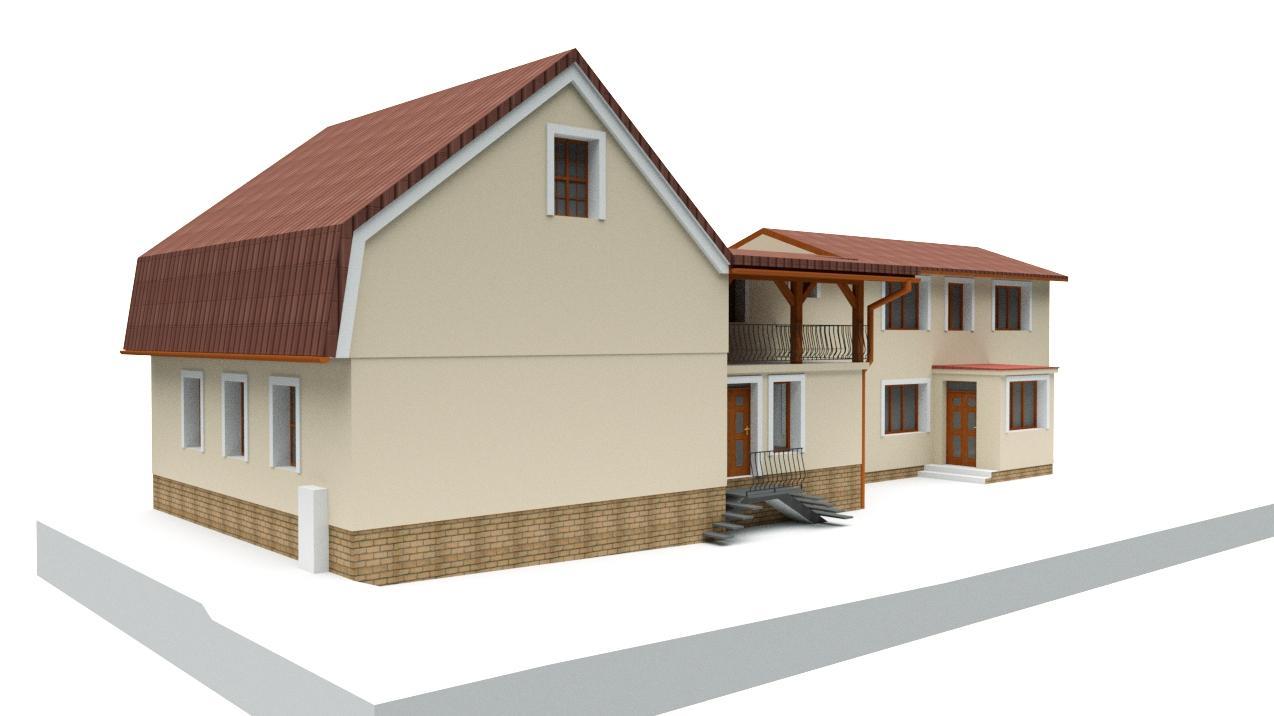 Návrh fasády rodinného domu v historickom centre mesta - Obrázok č. 1