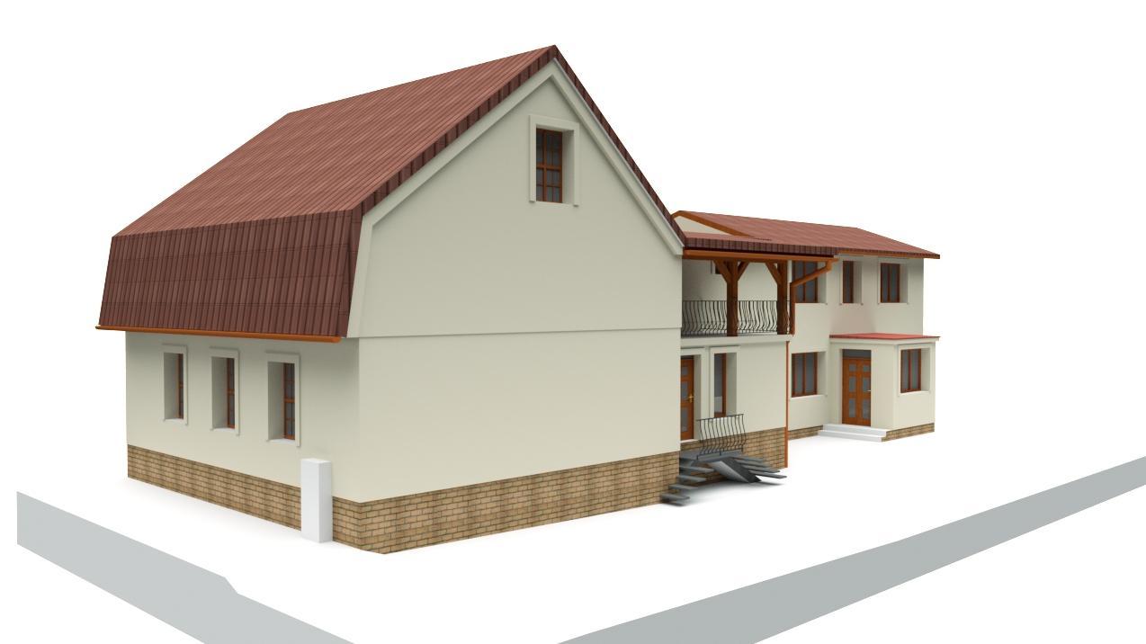 Návrh fasády rodinného domu v historickom centre mesta - Obrázok č. 2