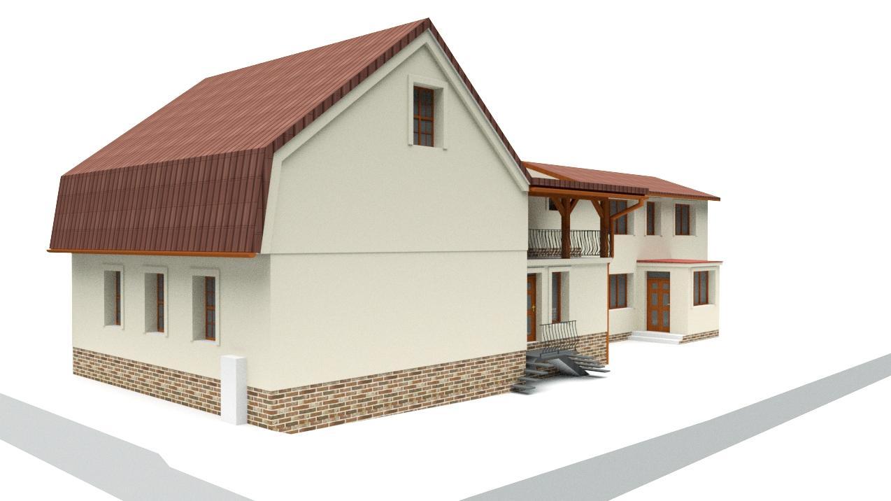 Návrh fasády rodinného domu v historickom centre mesta - Obrázok č. 3