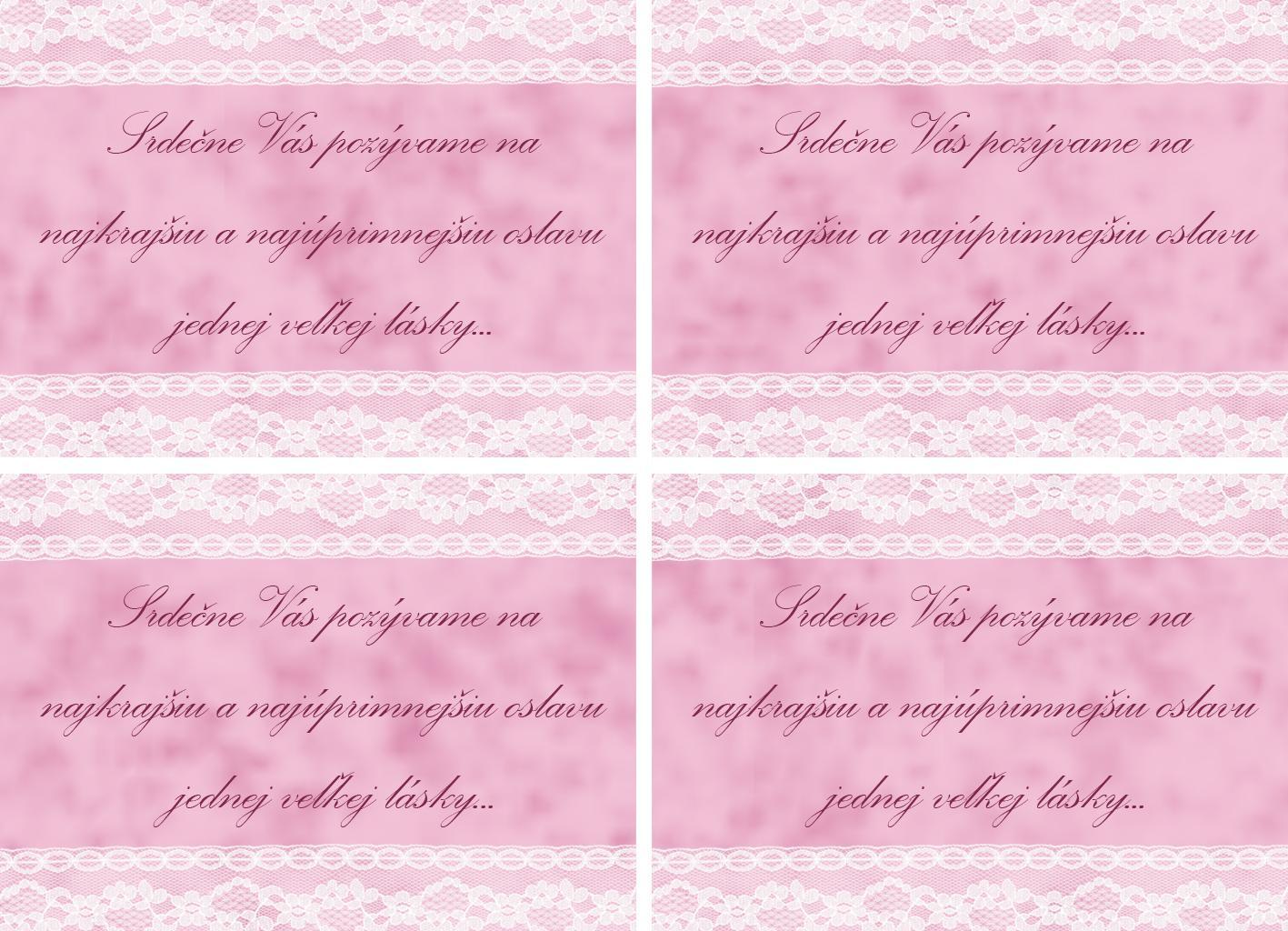 ♫ Keď sa sny plnia. . . ♫♪ - pozvánka k svadobnému stolu x4 :)