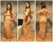 Čipkované šaty s holým chrbtom, 36