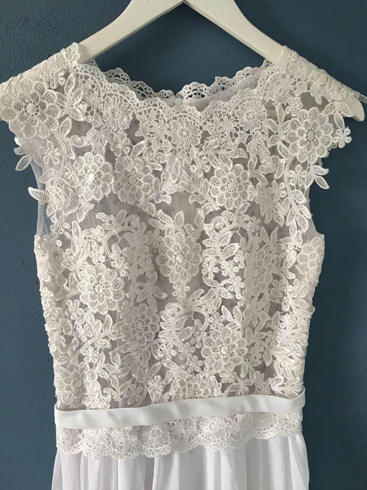 Čipkované svadobné šaty (nové) - Obrázok č. 1