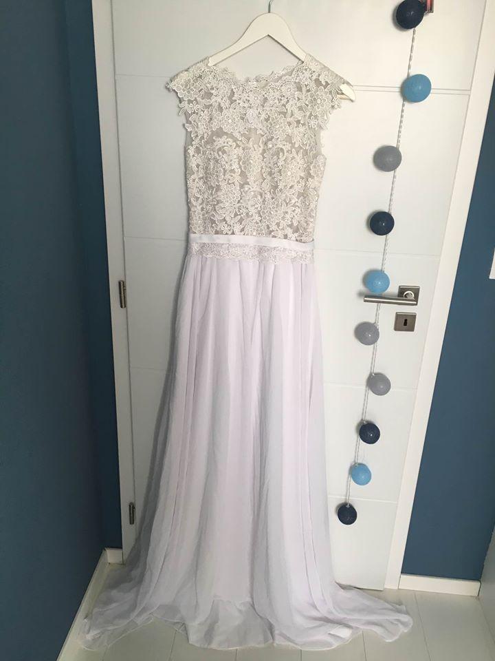 Čipkované svadobné šaty (nové) - Obrázok č. 4