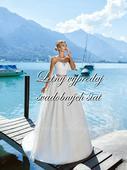 Zlacnené svadobné šaty - Model 1043, 36