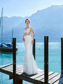 Zlacnené svadobné šaty - Model 1045, 36