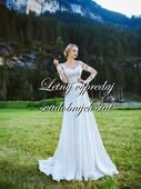 Zlacnené svadobné šaty - Model 1052, 38