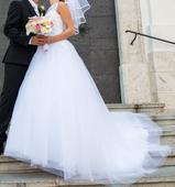 Svadobné šaty v top stave + topánky a krinolína , 36