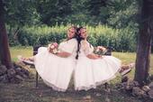 Krátké svatební šaty, vel. 42 a 44, 42