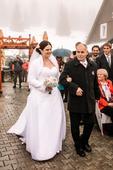 Svatební šaty velikost 42-44, 44