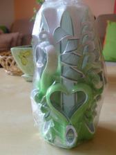 ručne rezaná sviečka kúpena na svadobnom veľtrhu