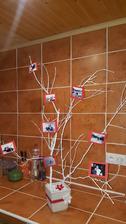 Foto-stromček na stolík pred vstupom do sály