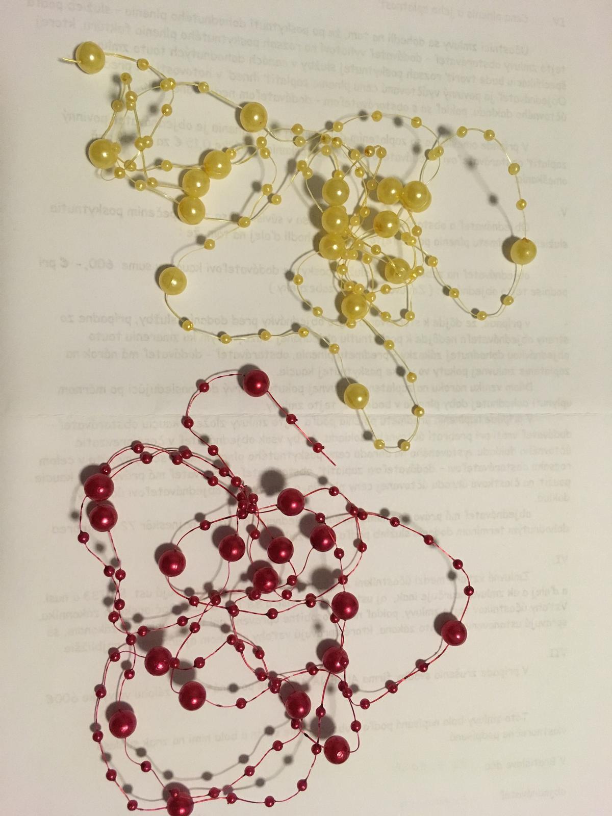 Perličková girlanda  - Obrázok č. 2