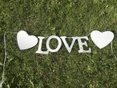 Papírový nápis Love,