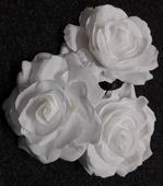 Růže bílá (do vlasů nebo i jako brož) ,