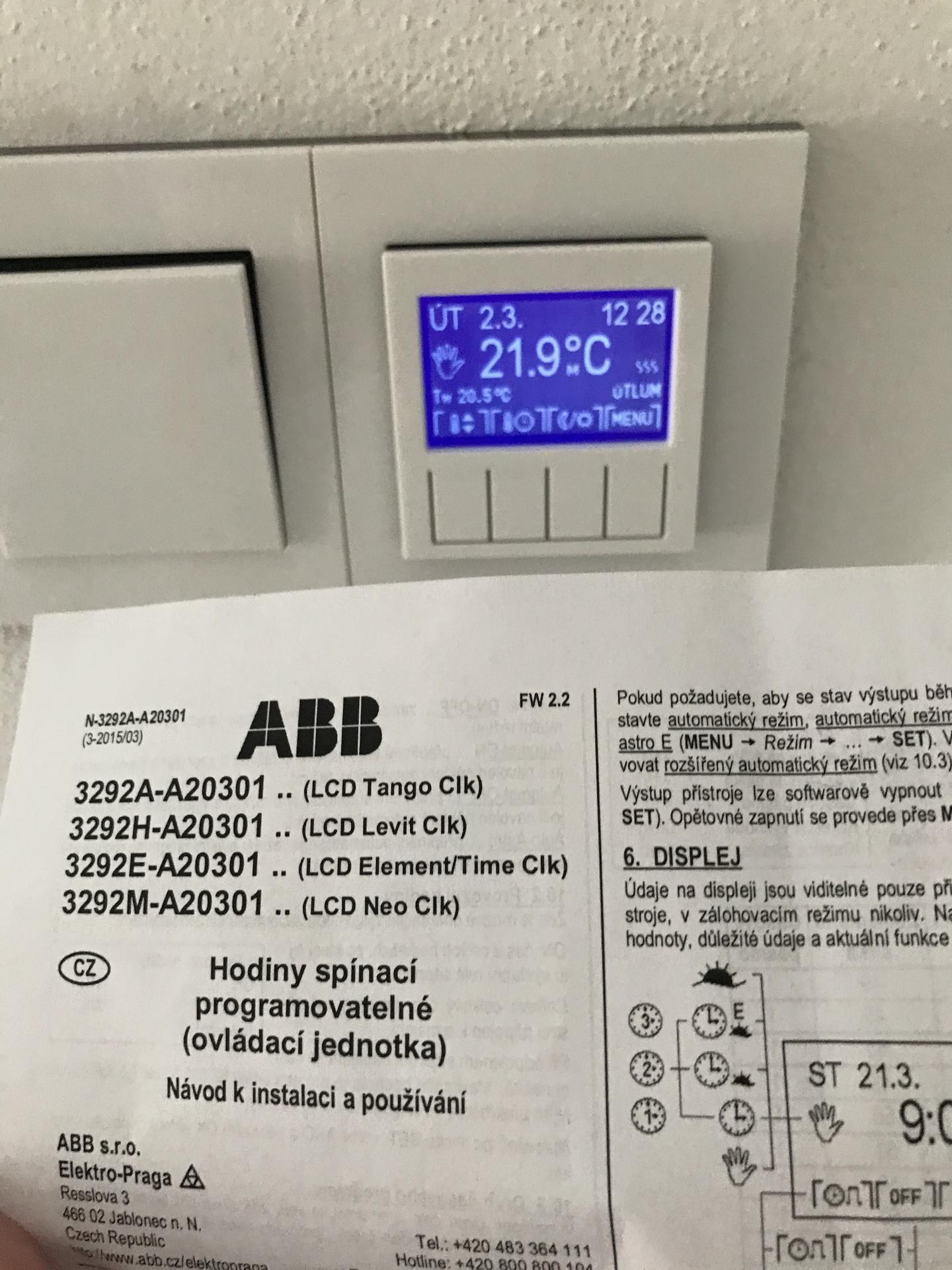 Ahoj, mate prosím nekdo tyto termostaty? Potřebovala bych radu :) - Obrázek č. 1