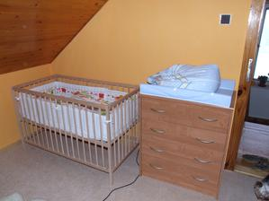 ložnice po nastěhování, očekávání potomka