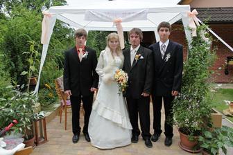 Se svědky, můj bratr a manželův bratranec