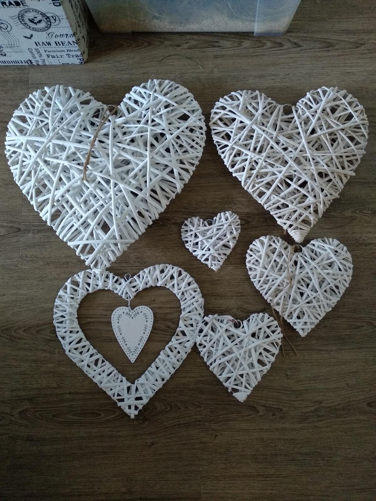 bílé ratanové srdce - Obrázek č. 1
