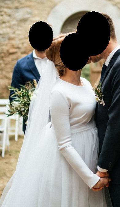 Těhotenské zimní svatební šaty - Obrázek č. 3