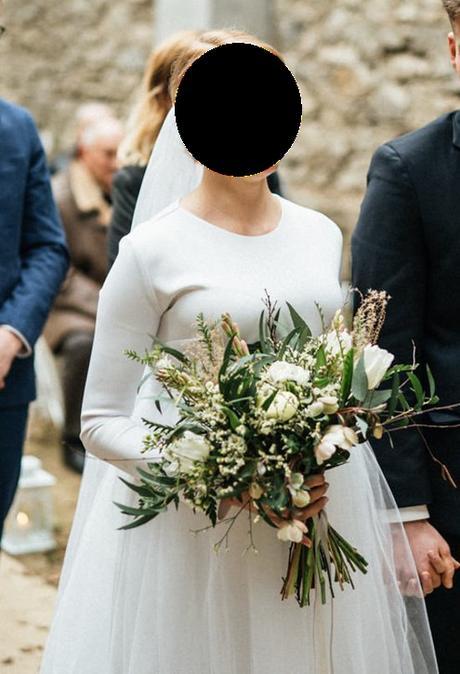 Těhotenské zimní svatební šaty - Obrázek č. 2