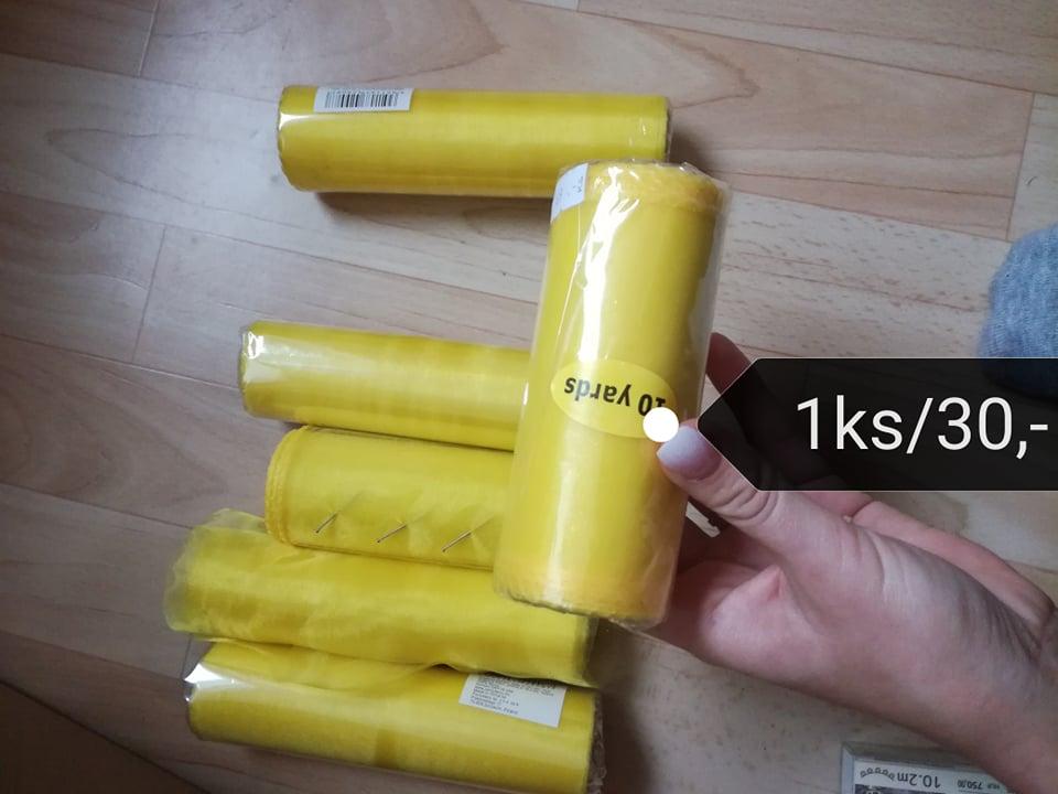 Organza žlutá - Obrázek č. 1