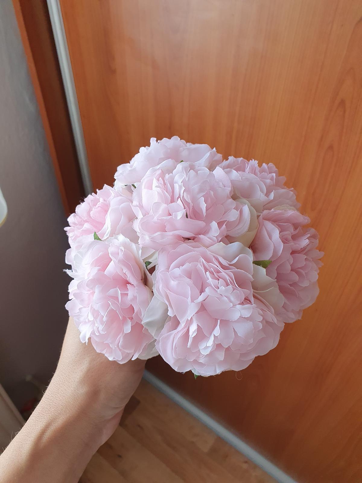 Umelé svadobné kytice - Obrázok č. 1