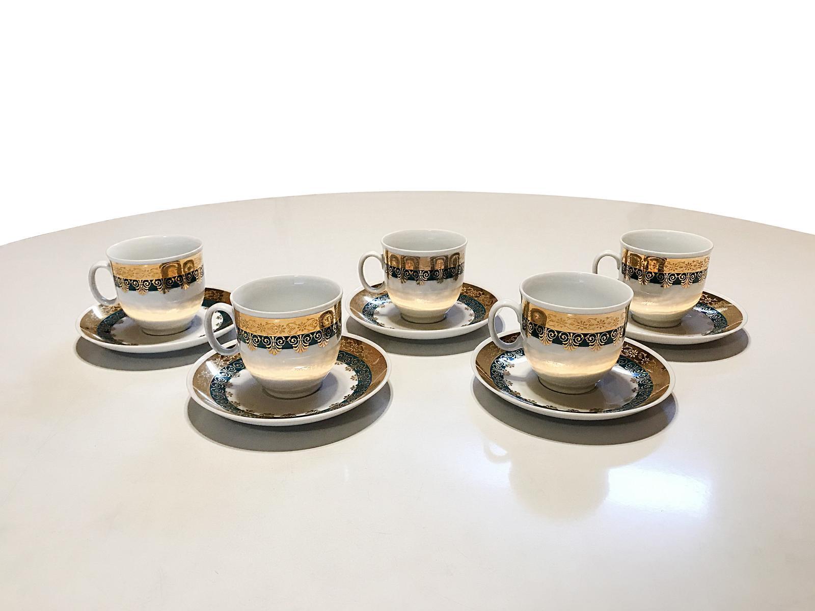 Predám 5-dielnu súpravu šálok na kávu - Obrázok č. 1