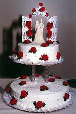Svadobná tortička.