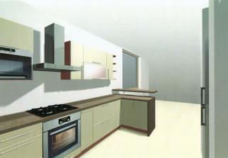 Takto nejako by mala vyzerať naša kuchyňa