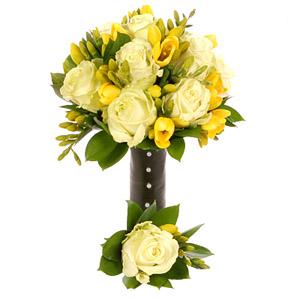 Vlasta a Honzík - Bílé růže a žluté frézie, nebo žluté růže a bílé frézie?