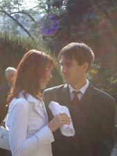 tak tohle jsme my dva na svatbě přítelovo sestry