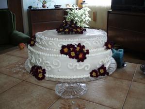 Zkouška našeho svatebního dortu. Budu si ho dělat sama.