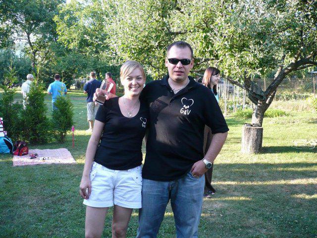 G{{_AND_}}V - po obrade garden party.. svadobné tričká G&V 888